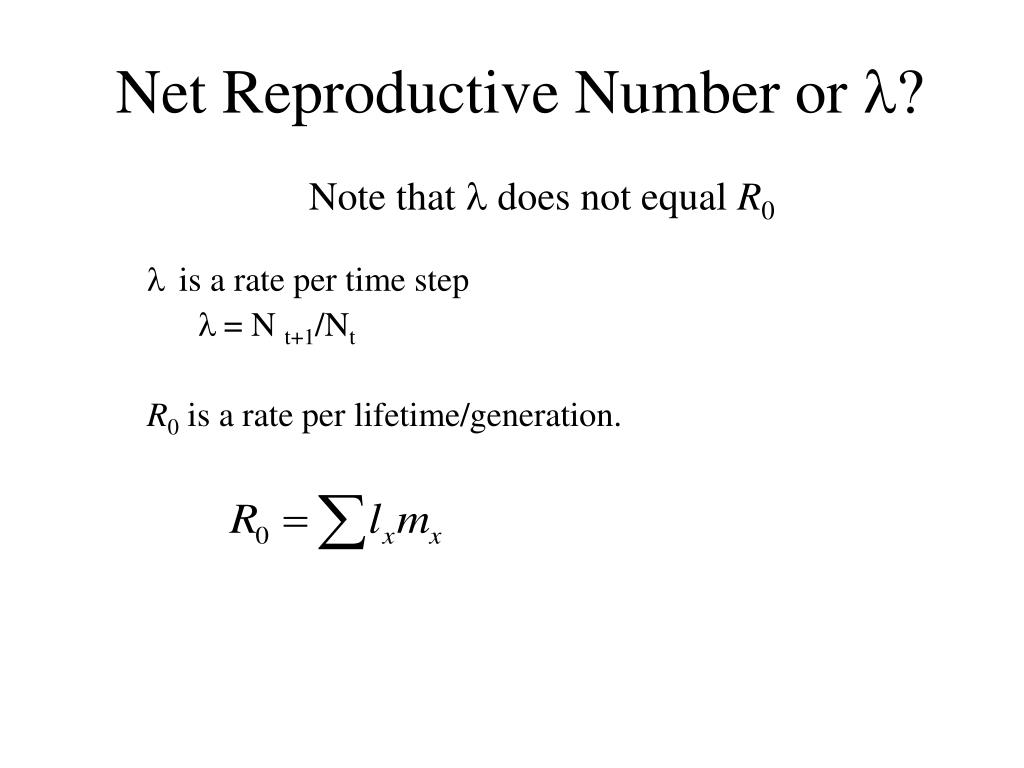Net Reproductive Number or