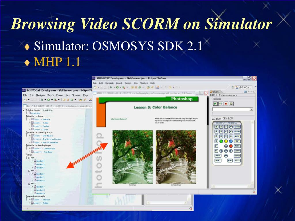 Browsing Video SCORM on Simulator