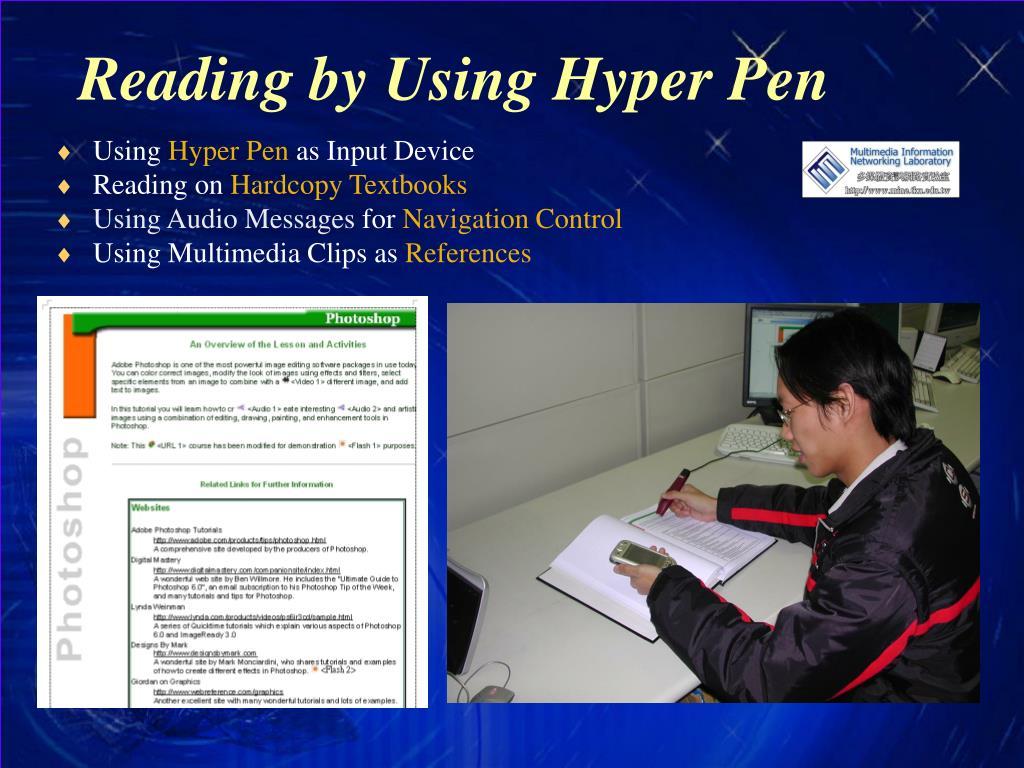 Reading by Using Hyper Pen