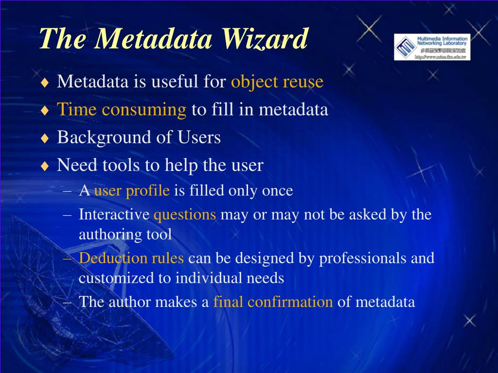 The Metadata Wizard