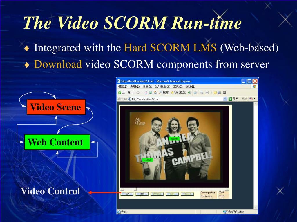 The Video SCORM Run-time