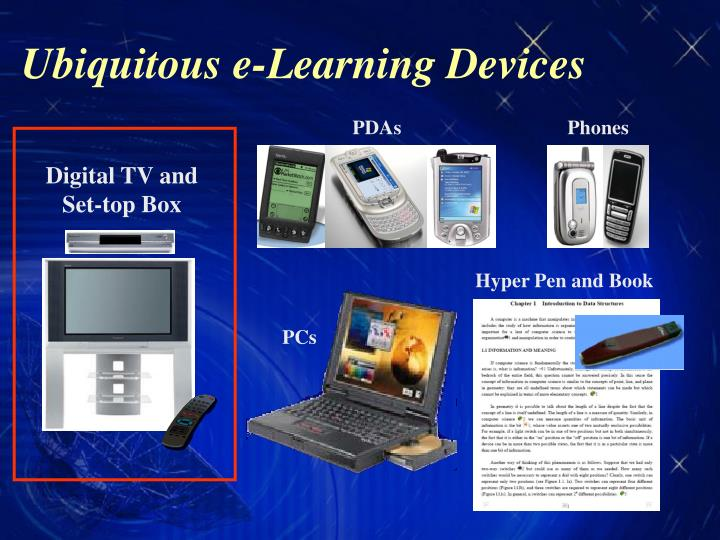 Ubiquitous e learning devices