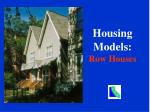housing models row houses