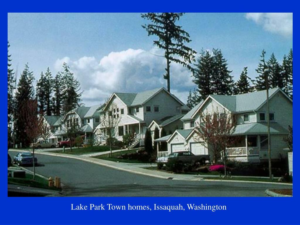 Lake Park Town homes, Issaquah, Washington