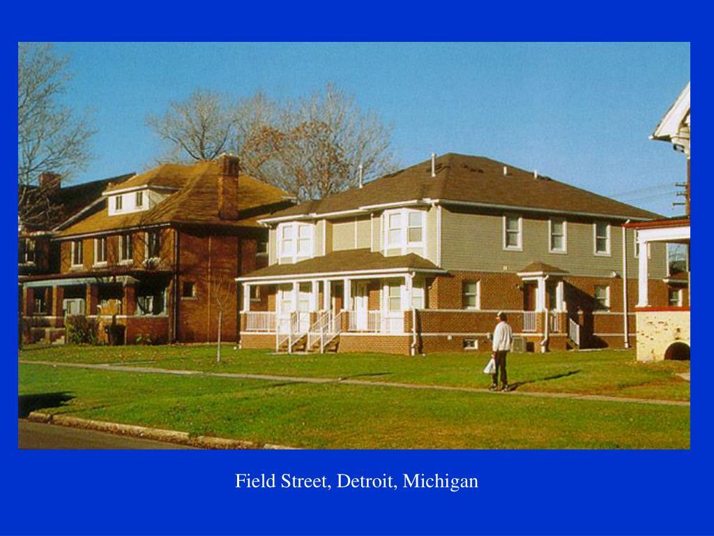 Field Street, Detroit, Michigan