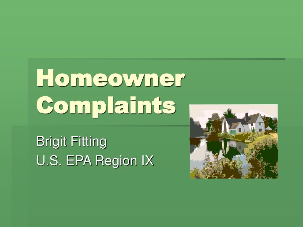 Homeowner Complaints