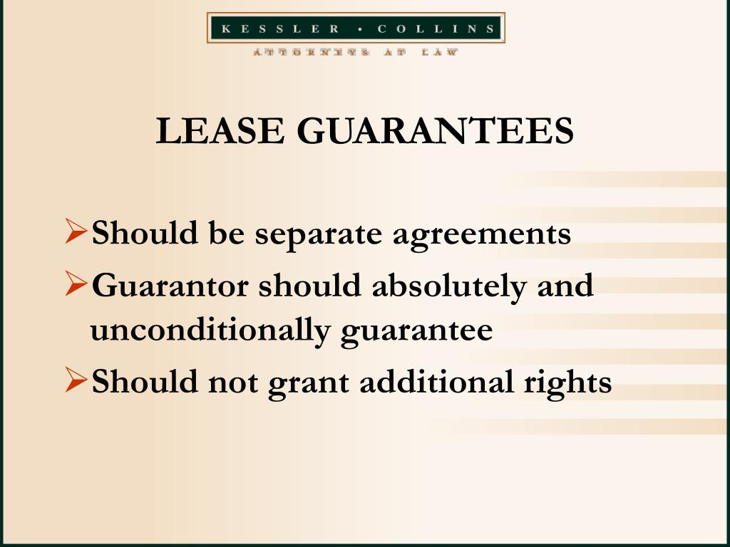 LEASE GUARANTEES