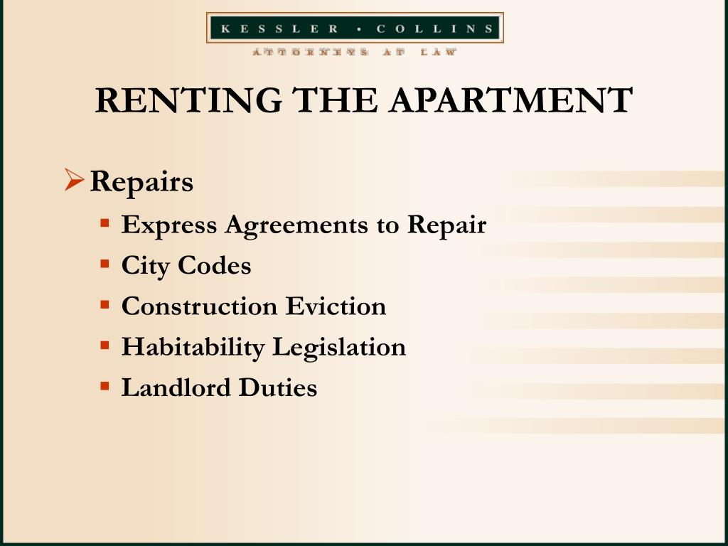 RENTING THE APARTMENT