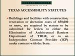 texas accessibility statutes57