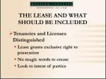 the lease and what should be included23