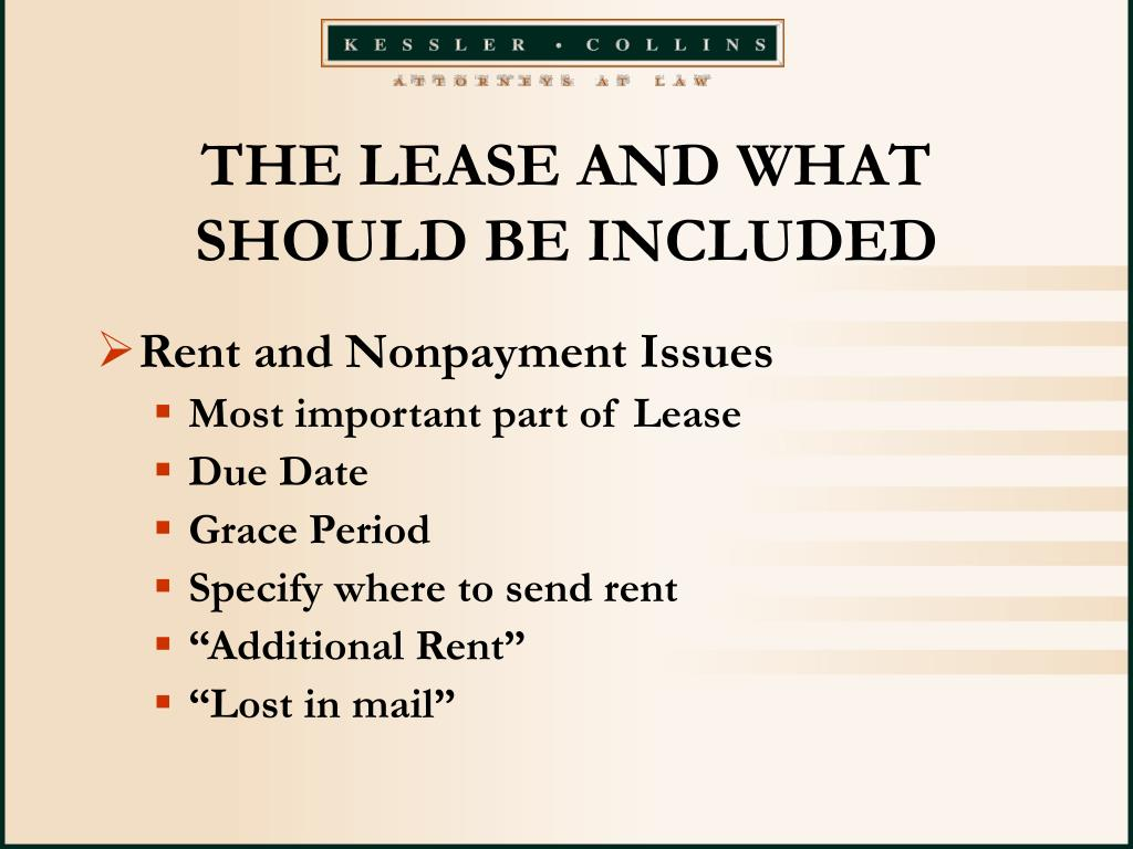 THE LEASE AND WHAT