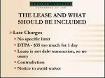 the lease and what should be included30