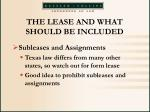 the lease and what should be included33
