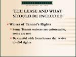 the lease and what should be included34