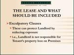 the lease and what should be included35