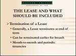 the lease and what should be included36