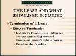 the lease and what should be included38