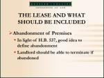 the lease and what should be included45