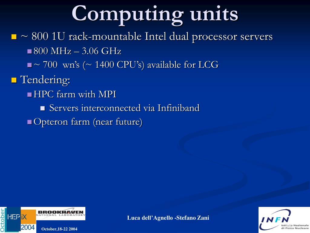 Computing units