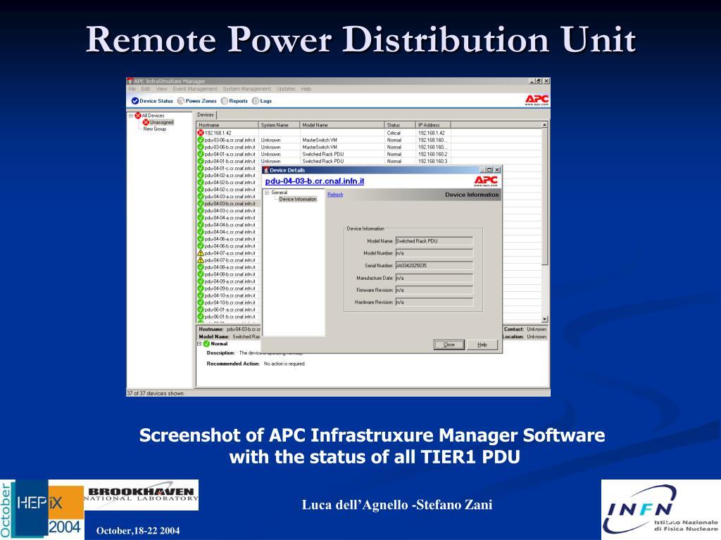 Remote Power Distribution Unit