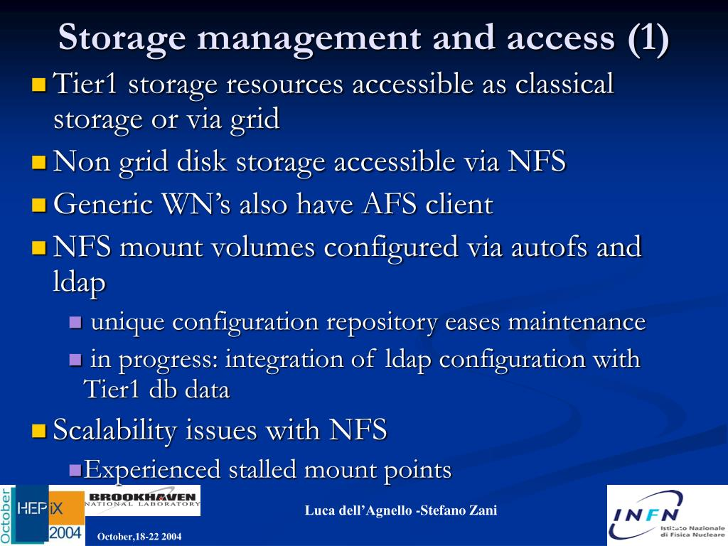 Storage management and access (1)