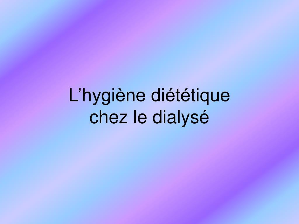 L'hygiène diététique