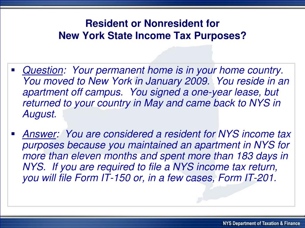 Resident or Nonresident for