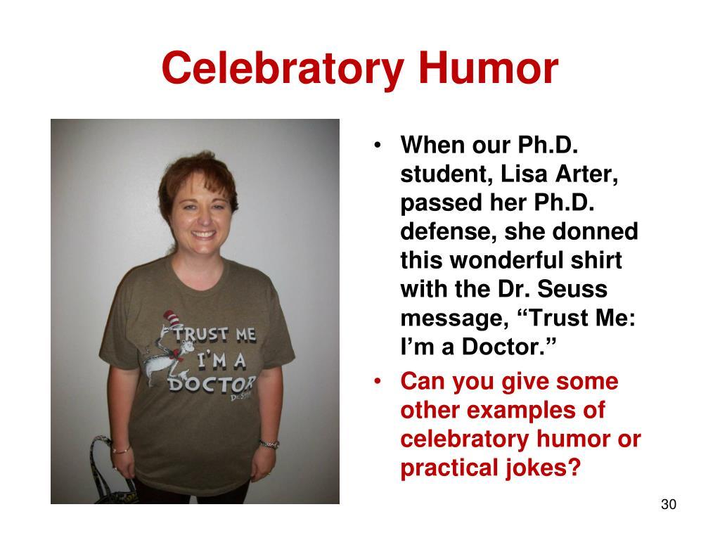 Celebratory Humor