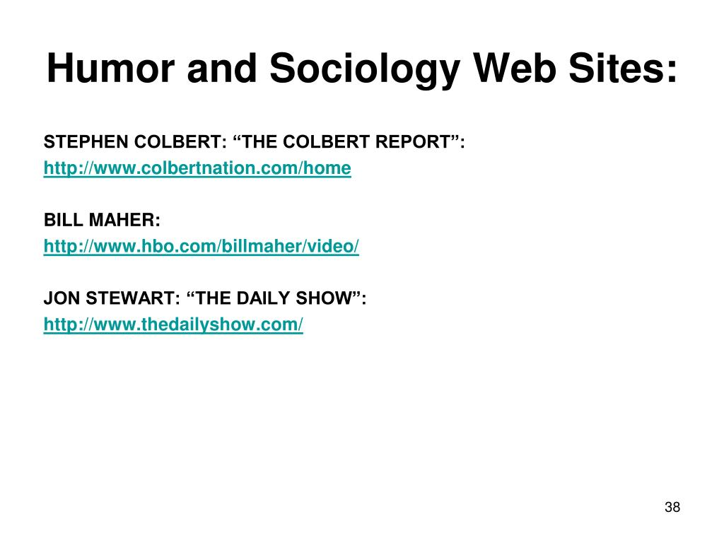 Humor and Sociology Web Sites: