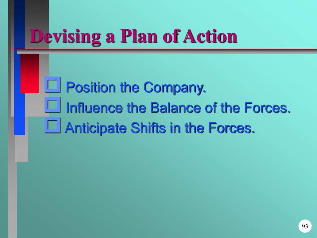 Devising a Plan of Action