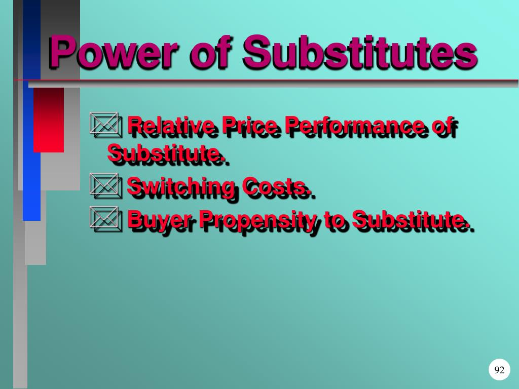 Power of Substitutes