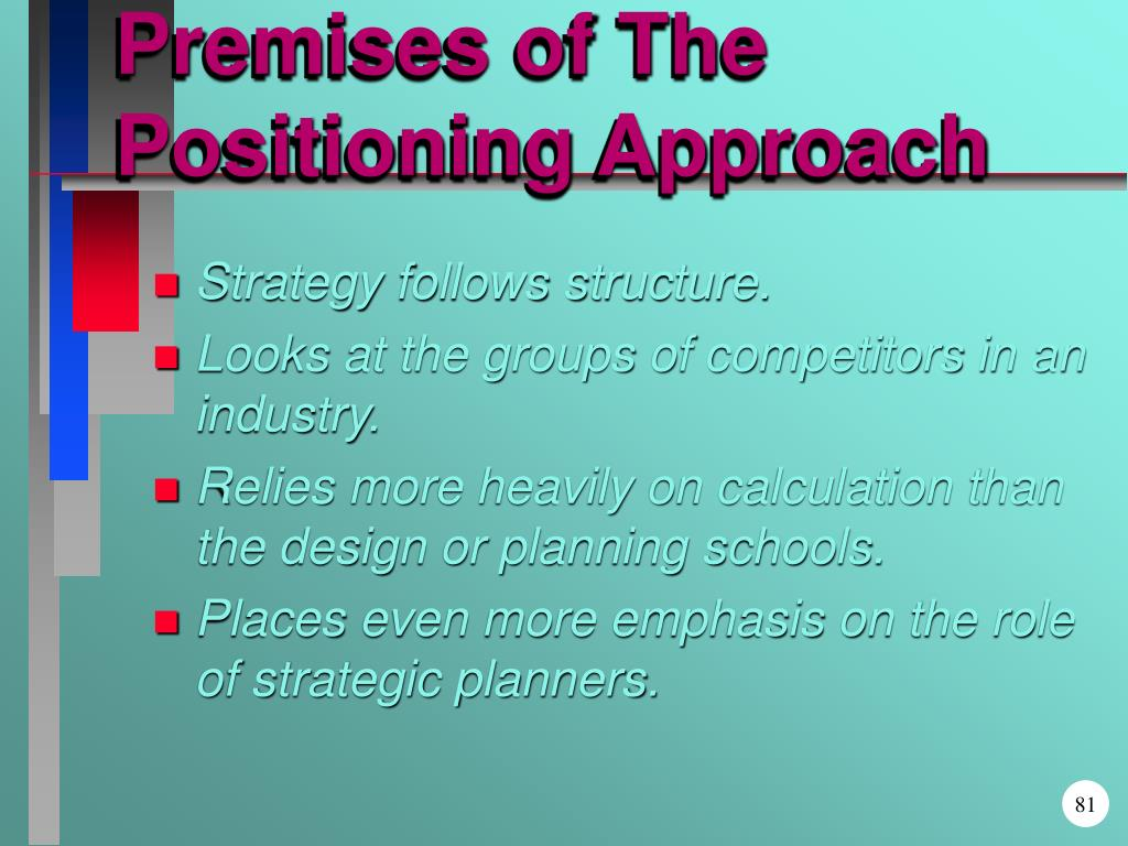 Premises of The Positioning Approach