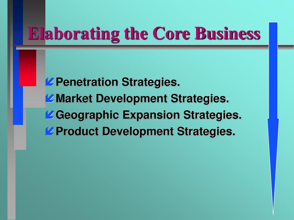 Elaborating the Core Business