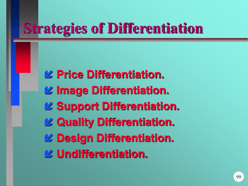 Strategies of Differentiation