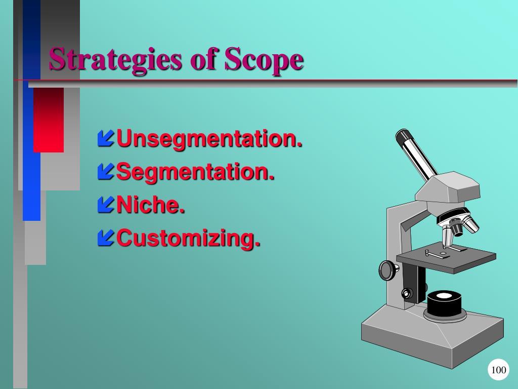 Strategies of Scope