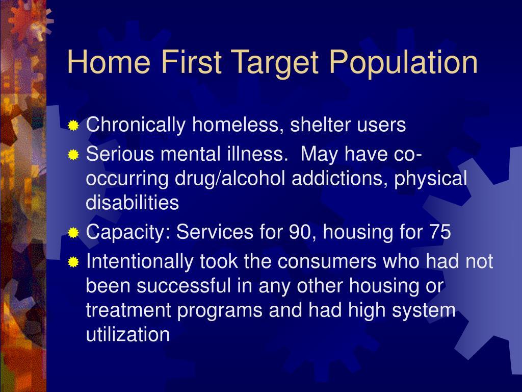 Chronically homeless, shelter users