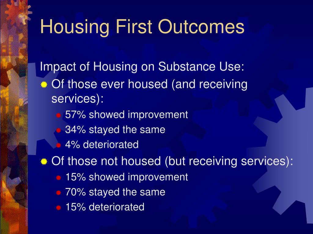 Impact of Housing on Substance Use:
