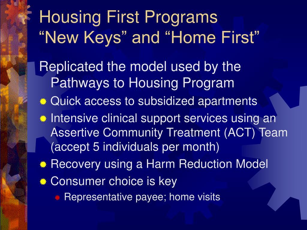 Housing First Programs