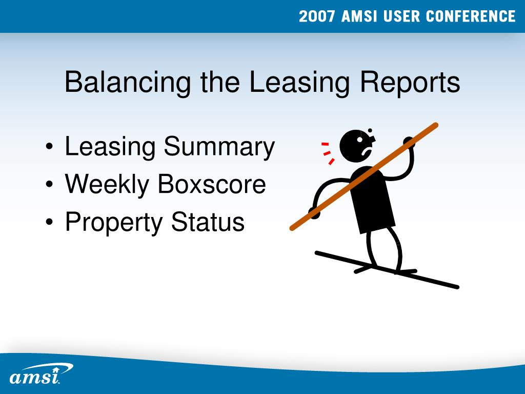 Balancing the Leasing Reports