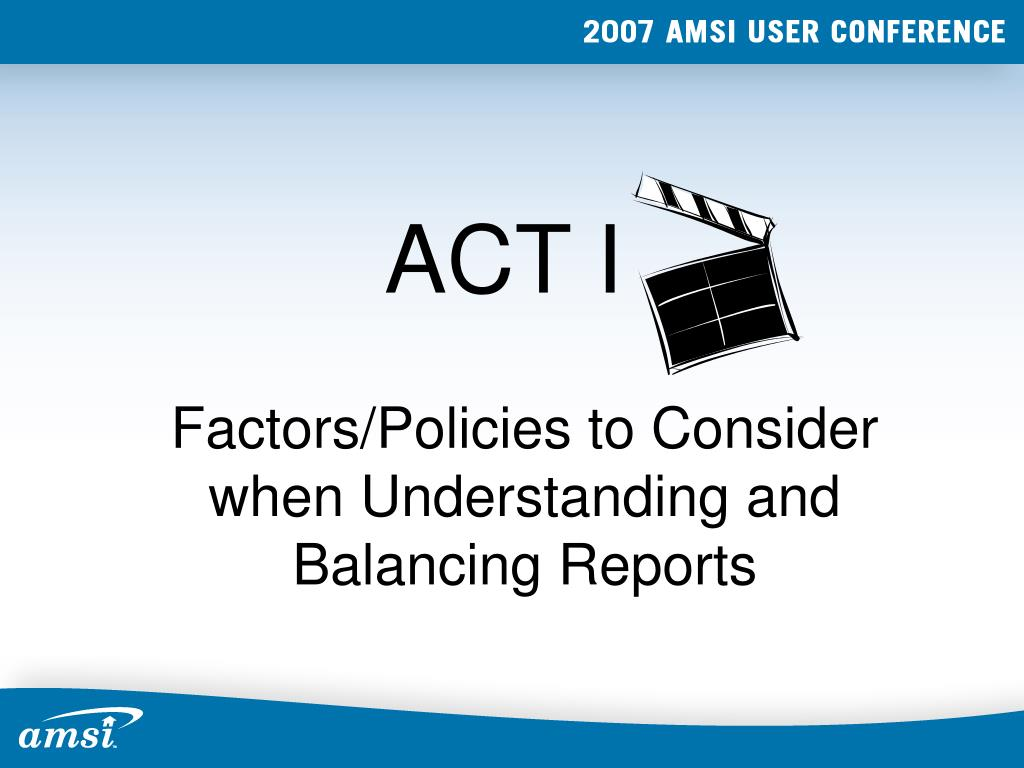 Factors/Policies to Consider when Understanding and