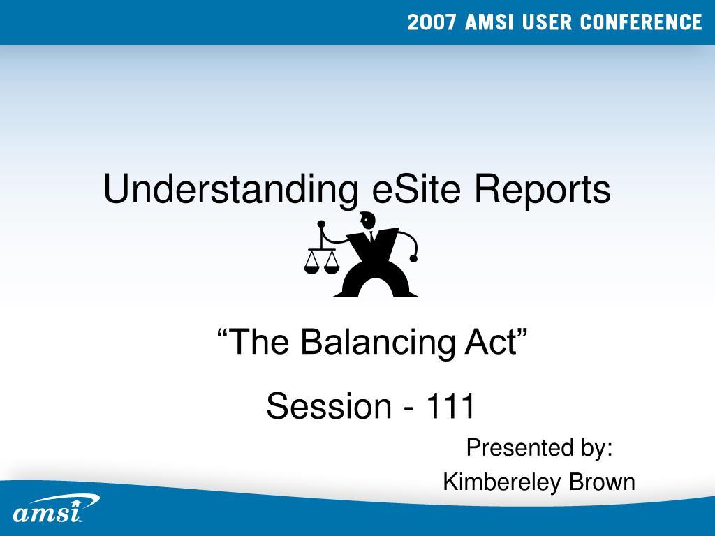 Understanding eSite Reports