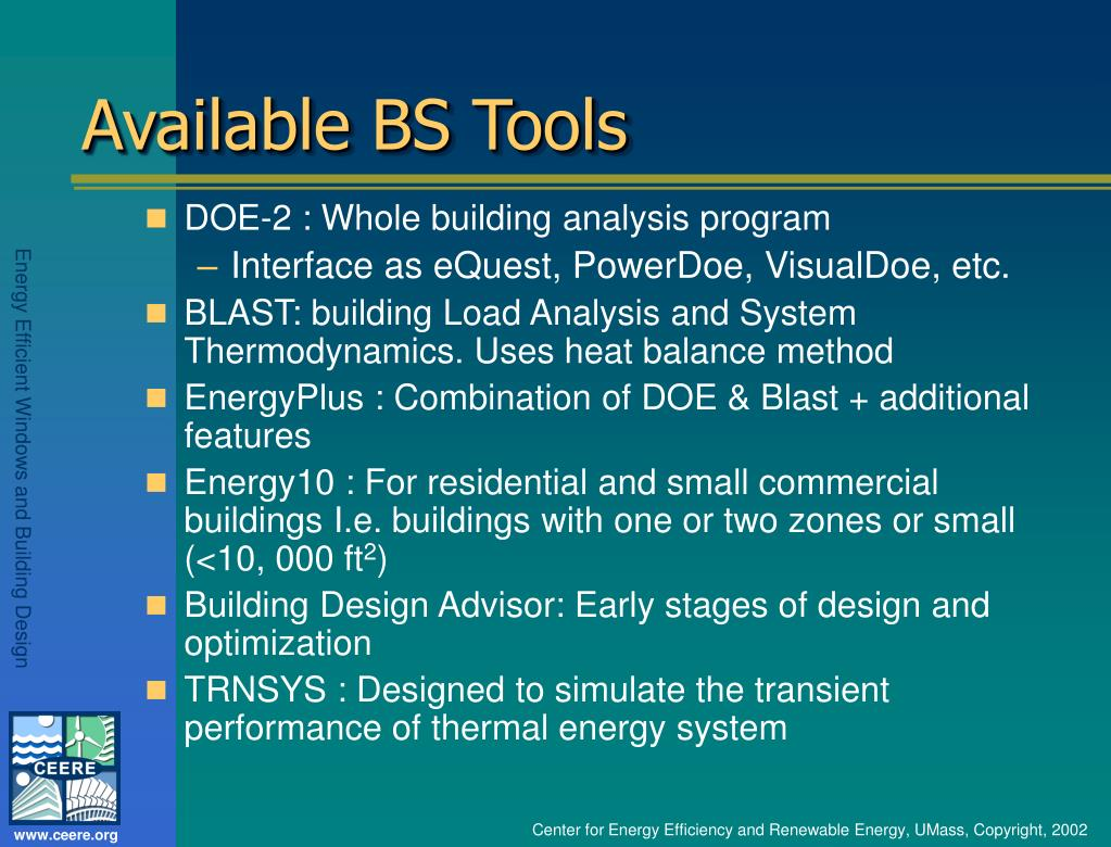 Available BS Tools