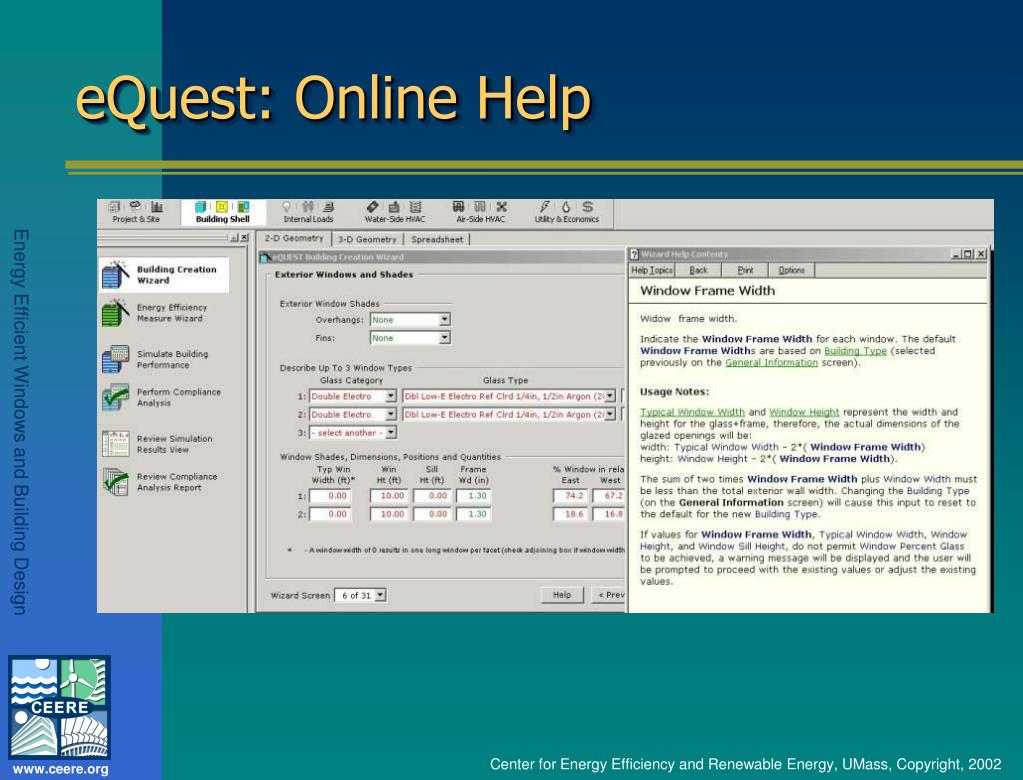 eQuest: Online Help