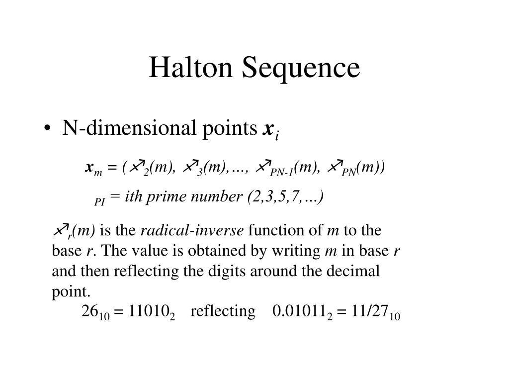 Halton Sequence