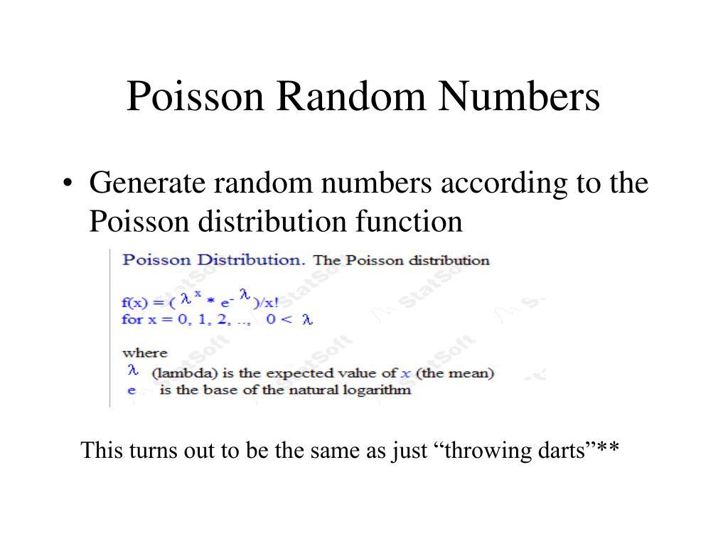 Poisson Random Numbers