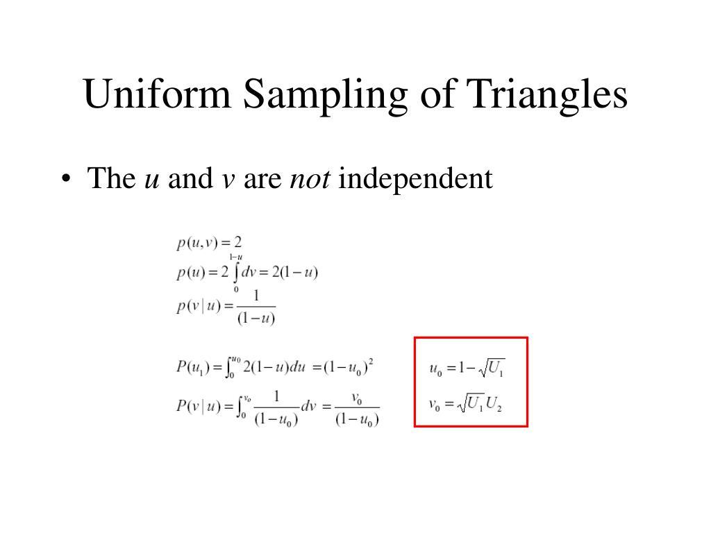 Uniform Sampling of Triangles