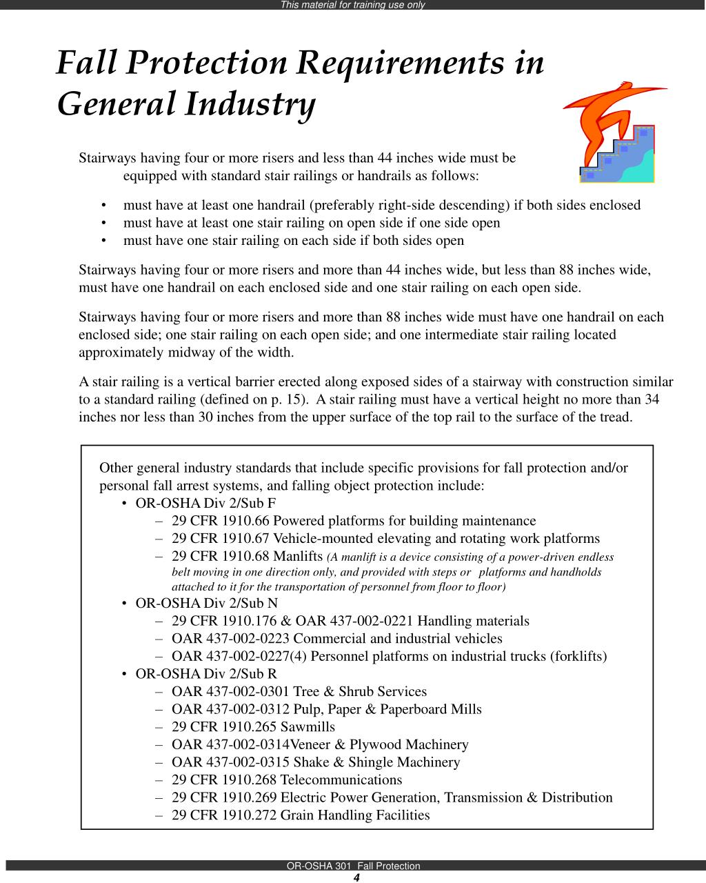 Fall Protection Requirements in General Industry