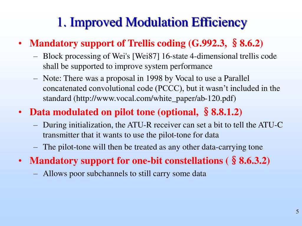 1. Improved Modulation Efficiency