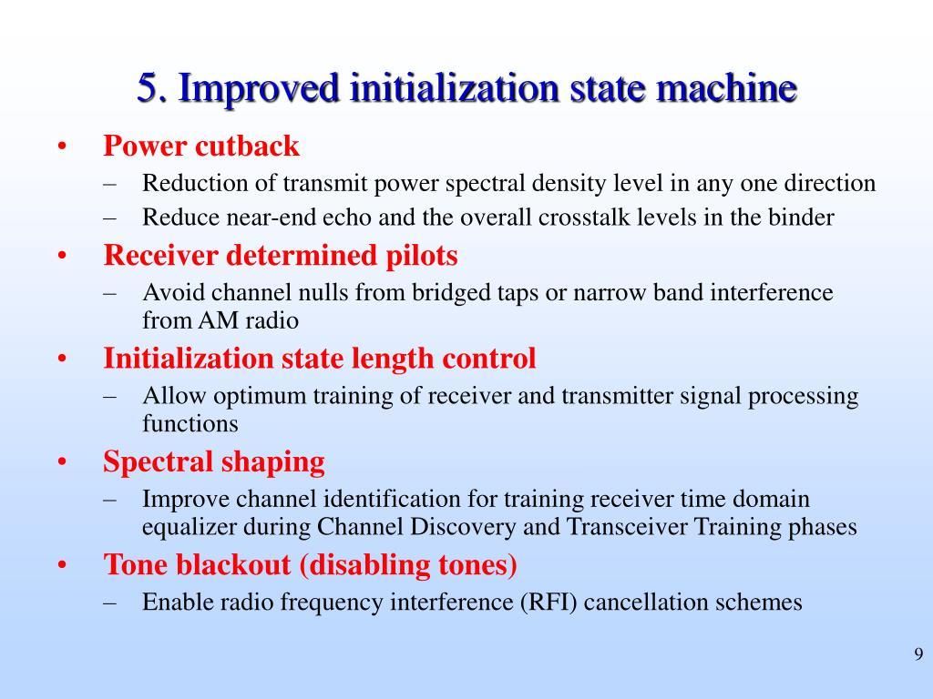 5. Improved initialization state machine