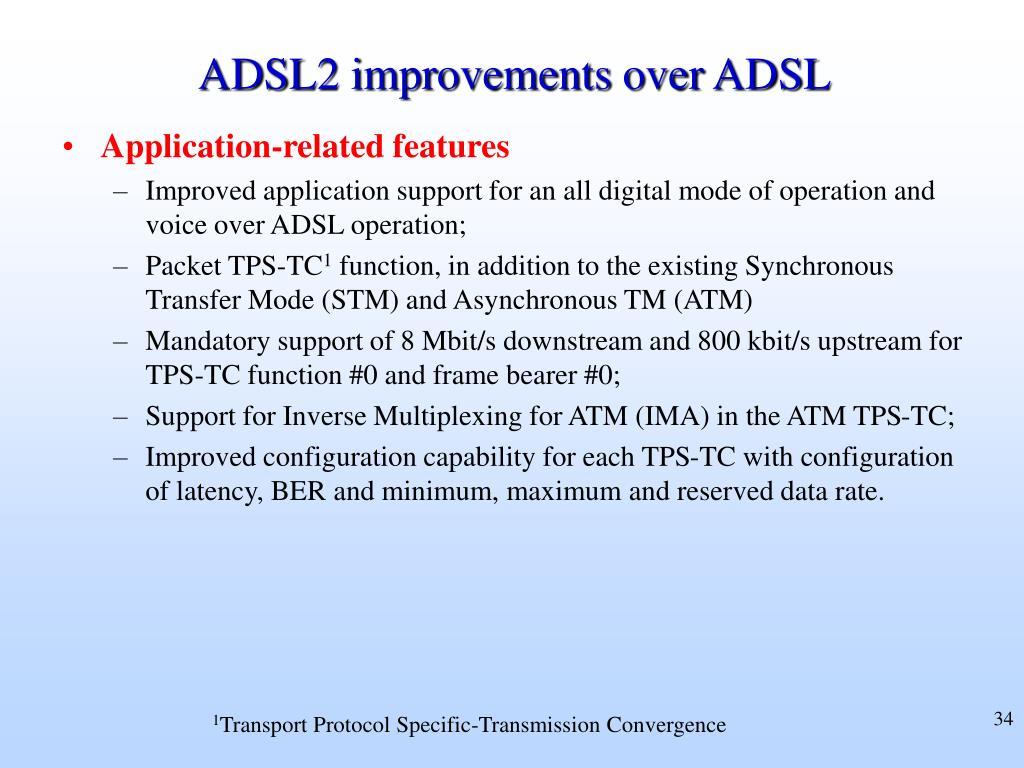 ADSL2 improvements over ADSL